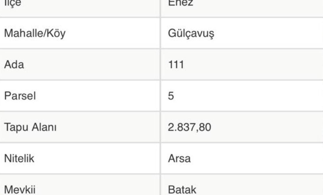 00210 - Grundstück Vollerschlossen - Edirne:Enez:GÜLÇAVUŞ 8